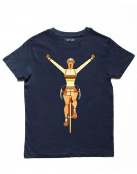 Tee shirt enfant bleu ''Champion du monde''