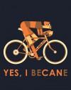"Tee Shirt Cycliste ""14""  bleu bandes grises"