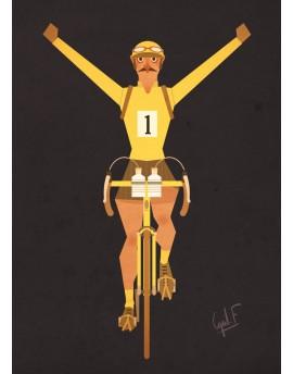 Carte Postale  ''Maillot jaune''