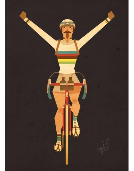 Carte Postale  ''Champion du monde''
