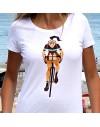 "Tee shirt femme ""Stamina"" blanc"