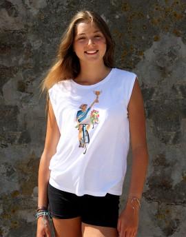 "Tee shirt femme ""Lily'' blanc"