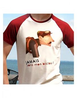 Tee-shirt homme ''Jamais sans mon biclou''