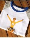 Tee shirt enfant tricolor ''maillot jaune''