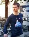 "Tee shirt manche longue homme ""King Ventoux"" bleu"