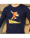 """Tee shirt manche longue homme """"Raffut"""" bleu"""