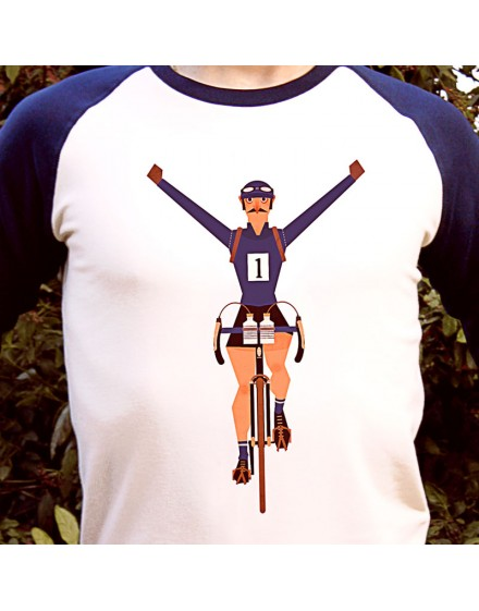 Sweat shirt homme''Victoire d'étape'' bleu et blanc