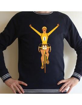 Sweat en coton bio homme  ''Maillot jaune''