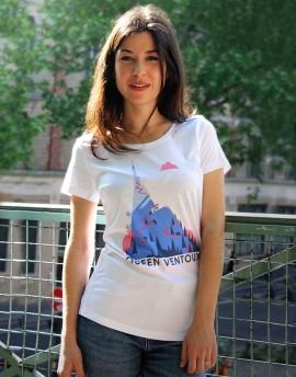 """Tee shirt femme """"Queen Ventoux'' blanc"""