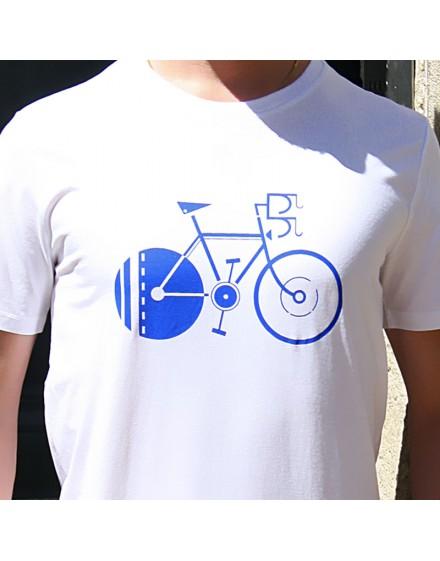 """Tee shirt homme """"Vélo d'Alphonse"""" blanc"""