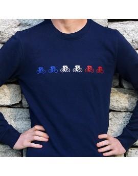 Sweat en coton bio homme  ''Bleu Blanc Rouge''