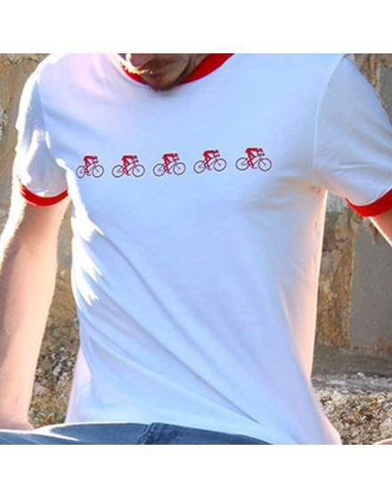 "Tee shirt homme ""Peloton"" blanc"