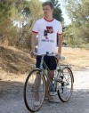 """Tee shirt homme """"Born to cycle"""""""