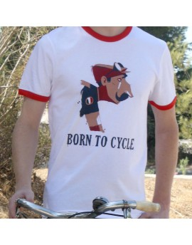 "Tee shirt homme ""Born to cycle"""