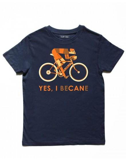 Tee shirt enfant bleu ''yes i bécane''